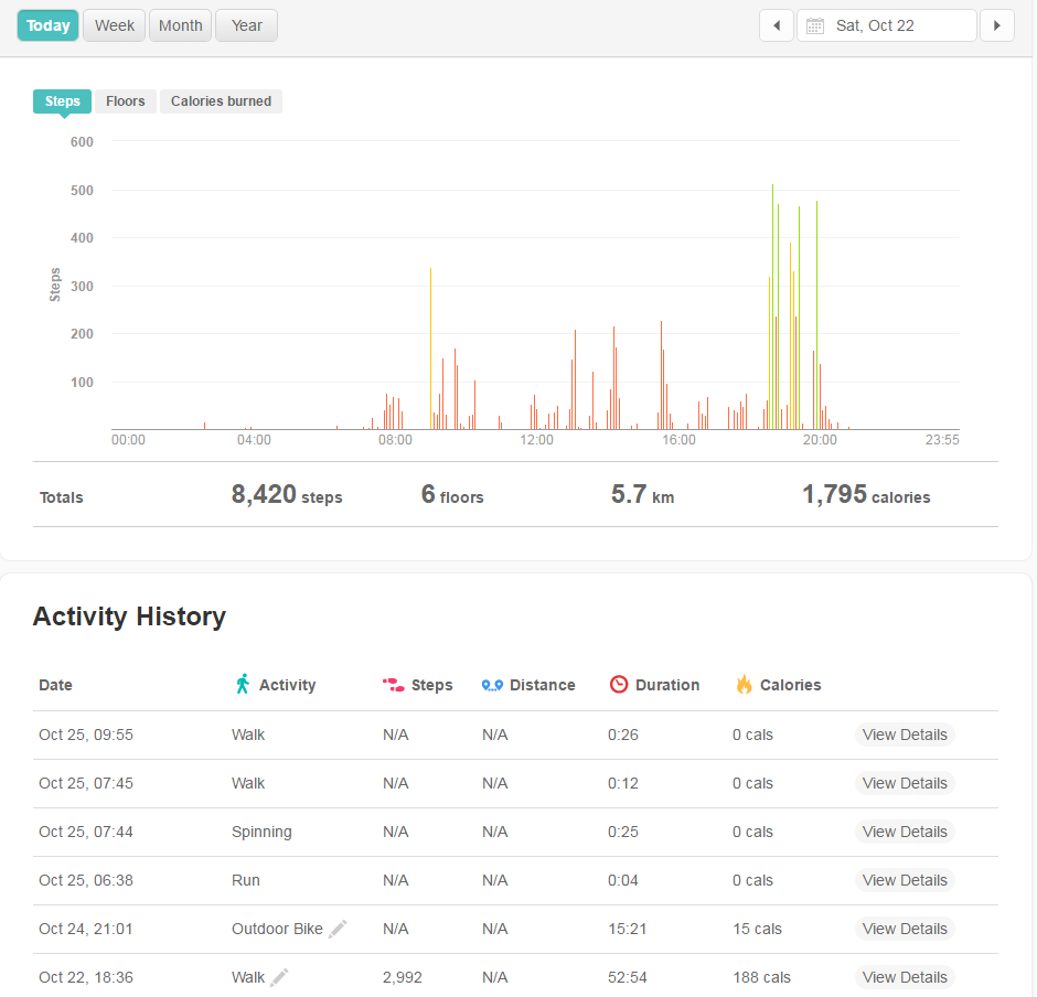 can i manually log steps on fitbit