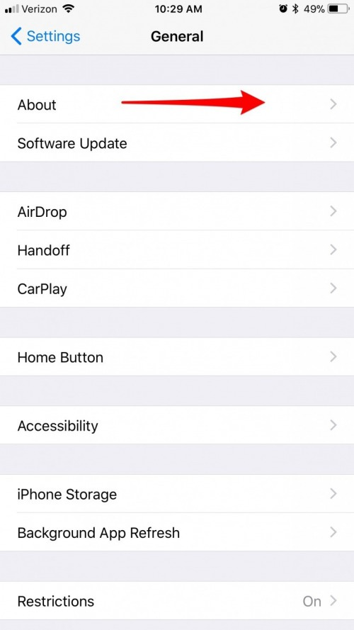 how to manually update carrier settings on iphone