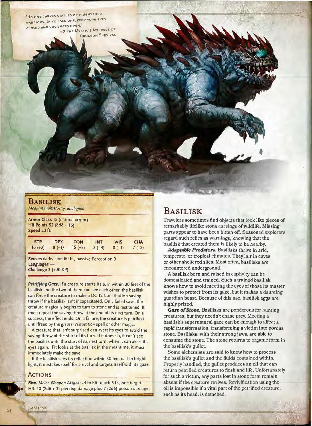 dungeons and dragons 5e monster manual dire wolf