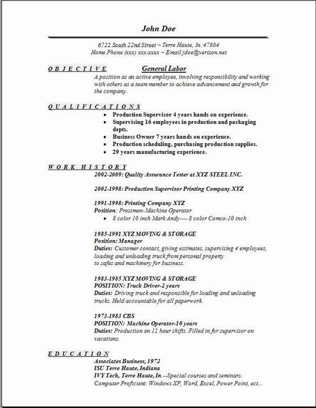 cover letter examples for manual labor