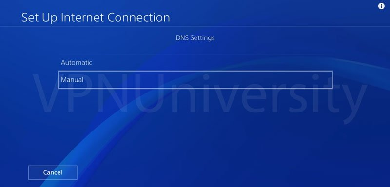 how to manually enter dns settings for nintendo switch